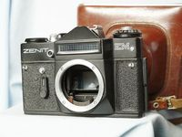 Zenit EM  Black M42 35mm SLR Camera Cased - Nice
